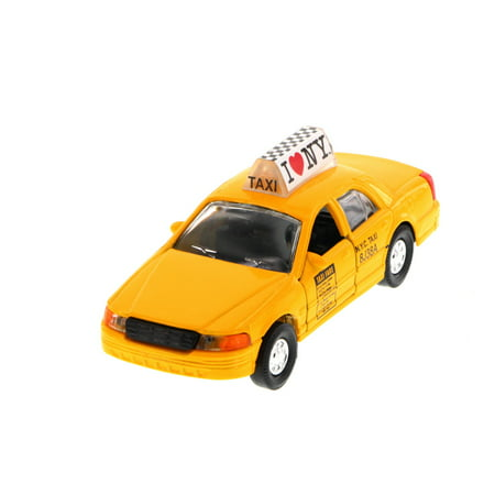 I Love New York Modern Taxi Cab, Yellow - 9989D-ILNY - Collectible Model Toy Car (Brand New, but NOT IN BOX) (Standard Cab Models)