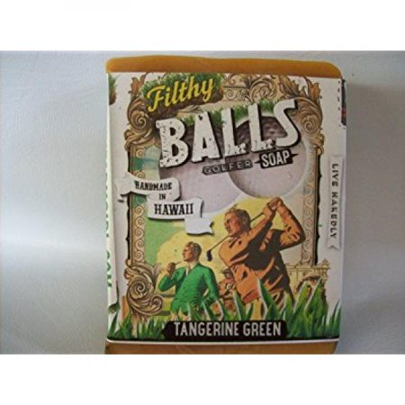filthy balls golfer all natural glycerin bar soap tangerine turmeric