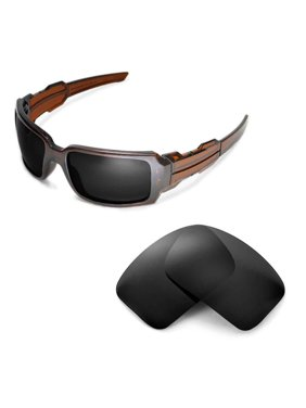 65f3b226342 Product Image Walleva Black Polarized Replacement Lenses for Oakley Oil  Drum II Sunglasses