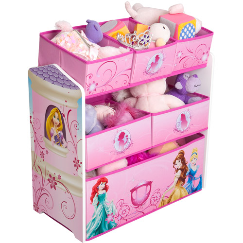 Disney Princess Multi-Bin Toy Organizer, Pink
