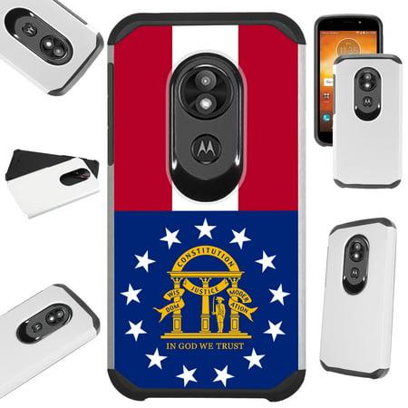 Compatible Motorola Moto G7 Power | Supra (2019) | Moto G7 Optimo Maxx Case Hybrid TPU Fusion Phone Cover (Georgia) ()