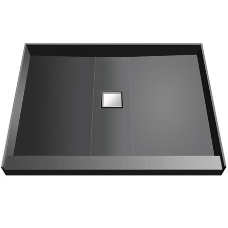 "Tile Redi WD3636C-PVC Wonder Drain 36"" X 36"" Three Wall Alcove Shower Pan with Single Threshold and 2"" Center Drain"