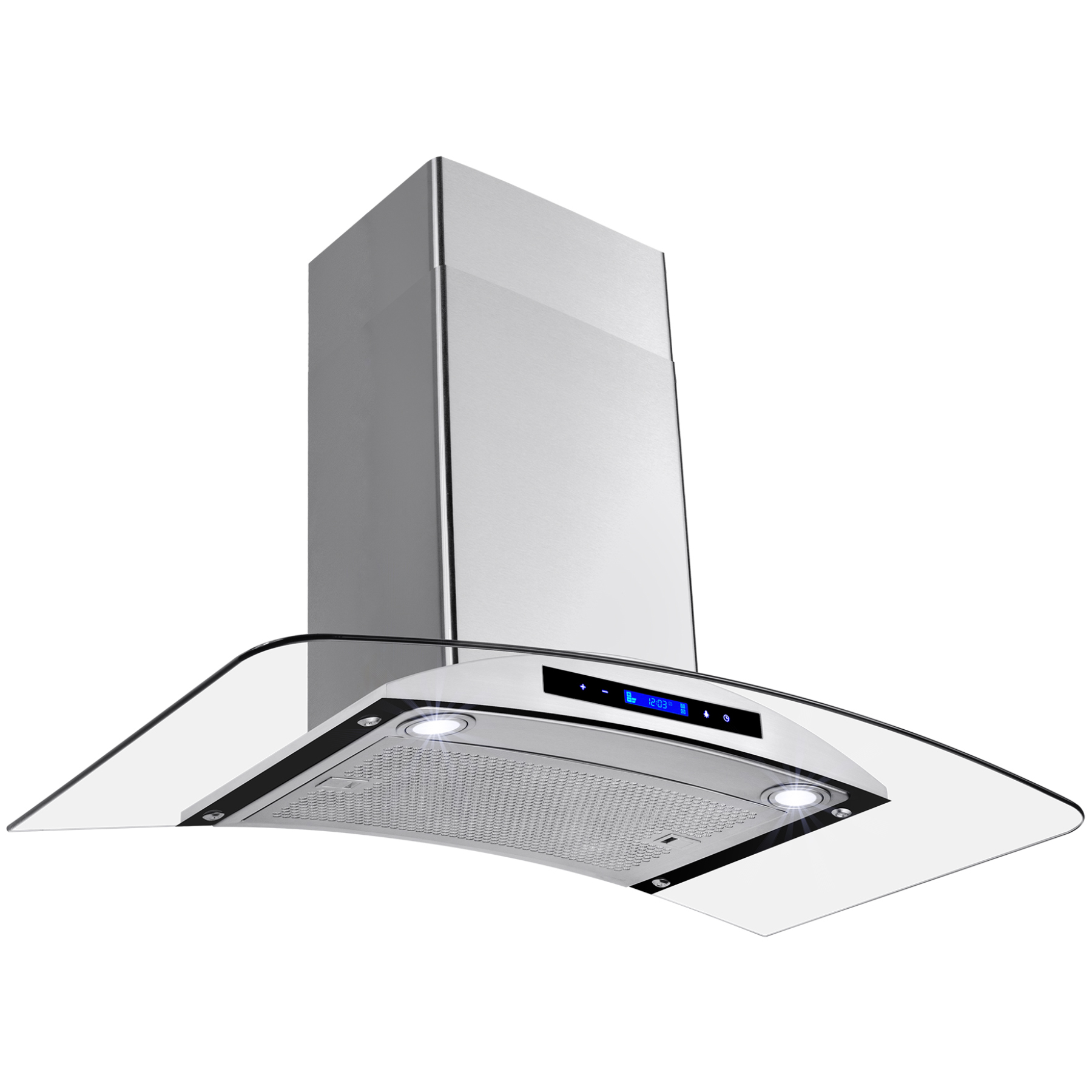 """Image of AKDY 36"""" Europe Stainless Steel Wall Mount Range Hood Stove Vent w/ Grease Filter Touch Control"""