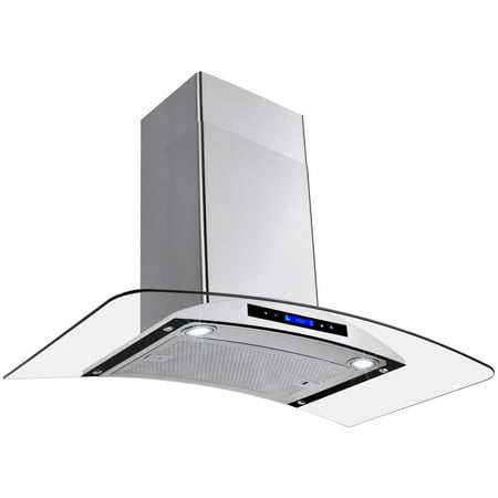 """AKDY 36"""" Europe Stainless Steel Wall Mount Range Hood Stove Vent w/ Grease Filter Touch Control"""