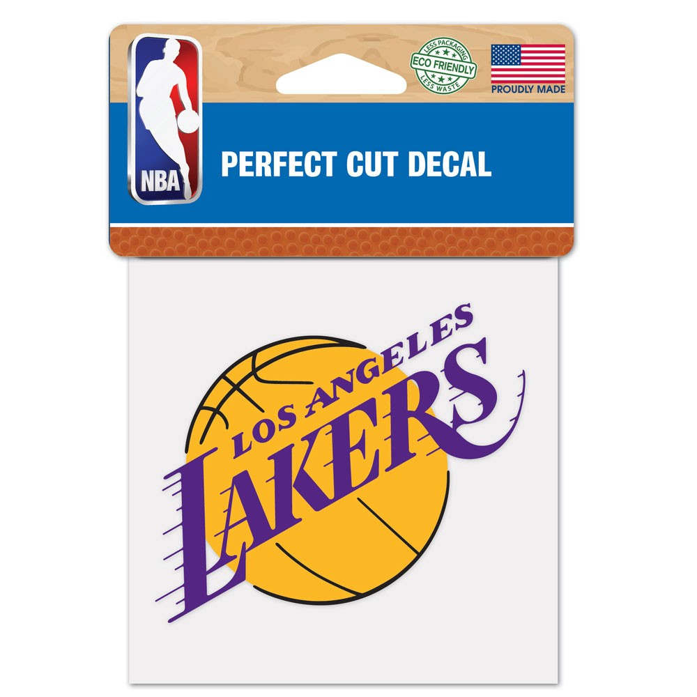 Los Angeles Lakers Official NBA 4 inch x 4 inch  Die Cut Car Decal by Wincraft
