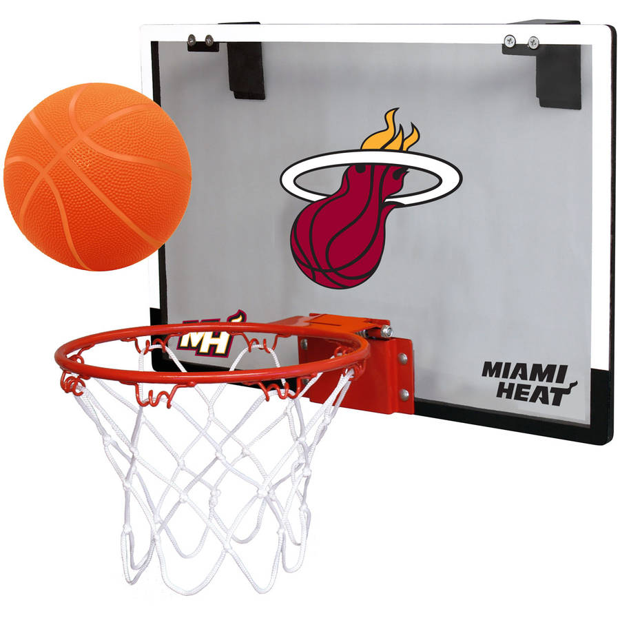 Rawlings NBA Game On Polycarb Hoop Set Miami Heat