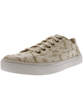 f472d701bc2 Product Image Toms Women s Lenox Canvas White   Gold Palms Ankle-High  Fashion Sneaker - 7M