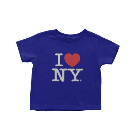 Medium I Love Ny Kids Tee Navy Blue Short Sleeve Screen Print Heart (Navy Blue Kids Shirt)