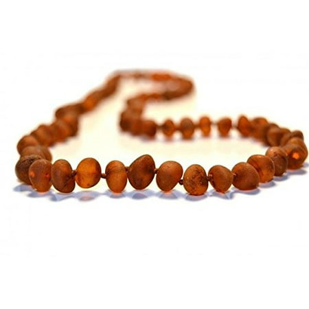 Cognac Baltic Amber Necklace - The Art of Cure Original Baltic Amber Necklace- Polished Handmade (Raw Cognac) for boy or girl ? 12 - 12.5 Inches size