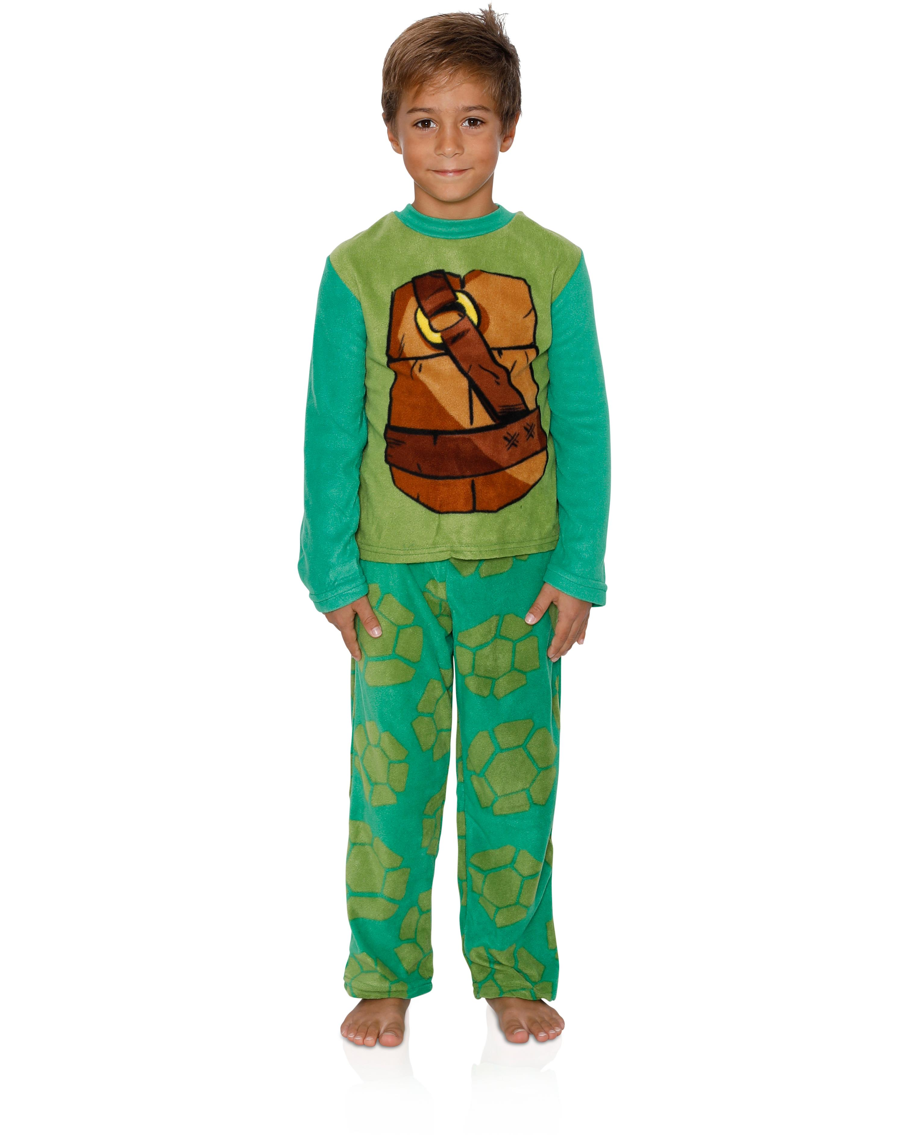 Ninja Turtles Boys Fleece Pajama Set, Sizes 4-10, Green, Size: 4
