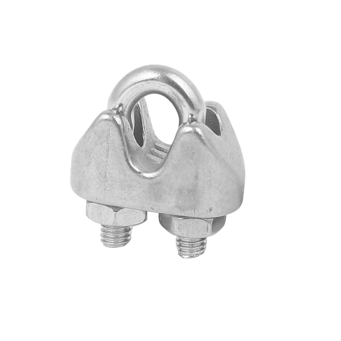 WNFOUS 20 Pcs Wire Rope Clip Clamp M5 304 Stainless Steel U Bolt Saddle Fastener Wire Rope Cable