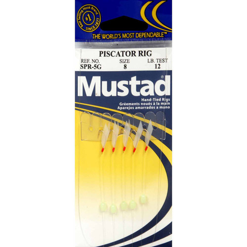 Mustad Piscator Rig #6, White