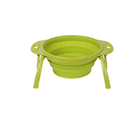 Dexas Collapsible Silicone 10 In. POP Colander, Green