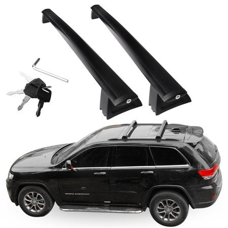 2Pcs/set For 2011-2019 Jeep Grand Cherokee Black Roof Top Racks Cross Bars Cargo Luggage Carrier (Jeep Grand Cherokee Frame)