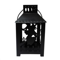 Halloween Metal witch tea-light candle holder