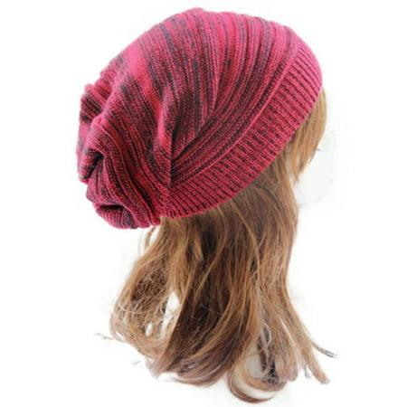 91544d77e9 Men Women Knit Oversize Baggy Slouchy Beanie Warm Winter Hat Ski Chic Cap  Skull