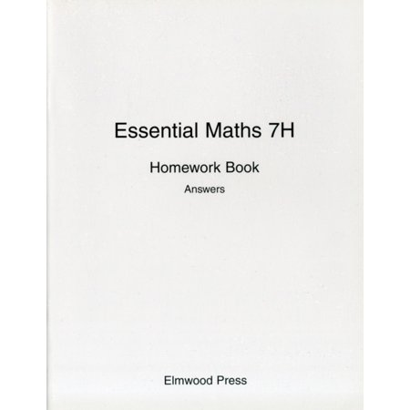 Essential Maths: Homework Book Answers Bk. 7H (Paperback