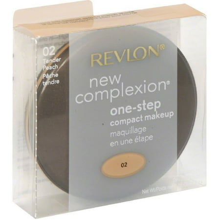 Revlon New Complexion One-step Compact Makeup, Tender Peach 0.35 oz (Pack of 4)
