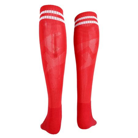 WALFRONT 1 paire de chaussettes respirantes anti-dérapantes sur le genou pour les sports de randonnée en plein air, les chaussettes de football et de football - image 2 de 8