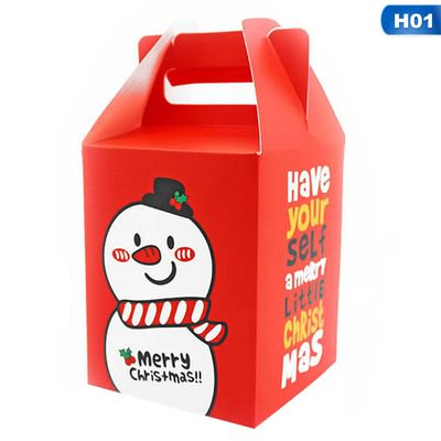 KABOER Christmas Cookie Box Santa Tote Bag Candy Boxed Cookies Cranberry Cookies Gift Box Hand Letter Bag ()