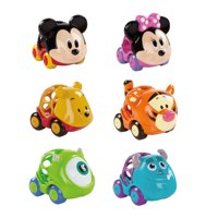Bright Starts Disney Baby Go Grippers Collection Push Cars - Disney Friends, Ages 12 months +