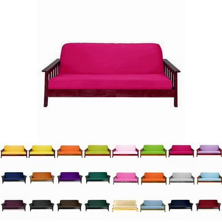 Solid Futon Cover Slipcover Fit 6 8 Mattresses Hot Pink Twin Size 39x75 Inch Com