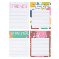Funny Sarcastic Notepads - 4-Pack Memo Note Pads for Work and Office, Novelty Gag Gift for Adult, Coworker, 4 Assorted Punchlines, 50 Sheets Each, 4 x 5.2 Inches