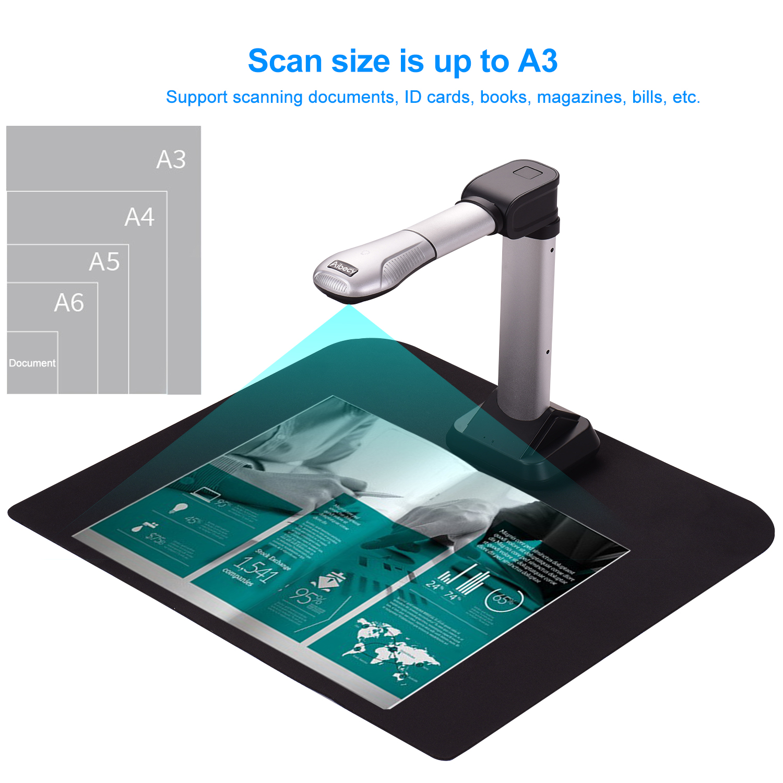 Aibecy BK51 USB Document Camera Scanner Capture Size A3 HD