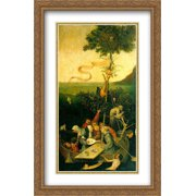 The Ship of Fools 2x Matted 26x40 Large Gold Ornate Framed Art Print by Bosch, Hieronymus