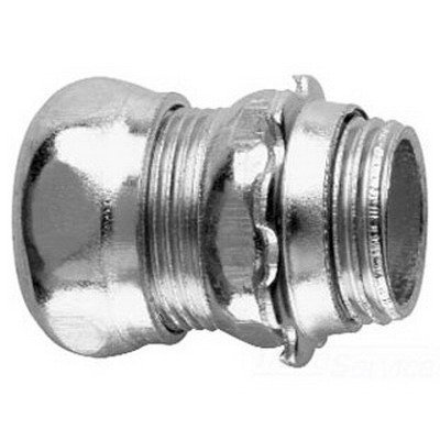 Crouse-Hinds 652 Zinc Plated Steel Non-Insulated EMT Compression Straight Connector 1 Inch (Emt Steel Compression Connector)