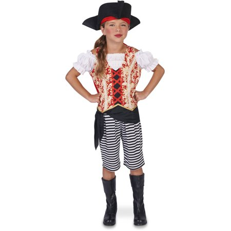 Sea Pirate Girl Child Halloween Costume](Pirate Girl Costume Kids)