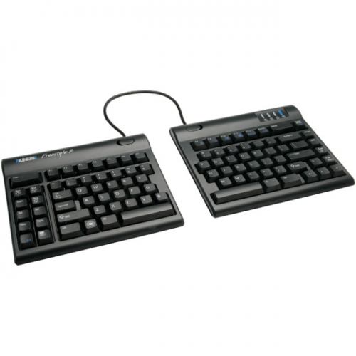 "Kinesis Freestyle2 Keyboard for PC (9"" inch cable) with VIP3 Accessory Installed"