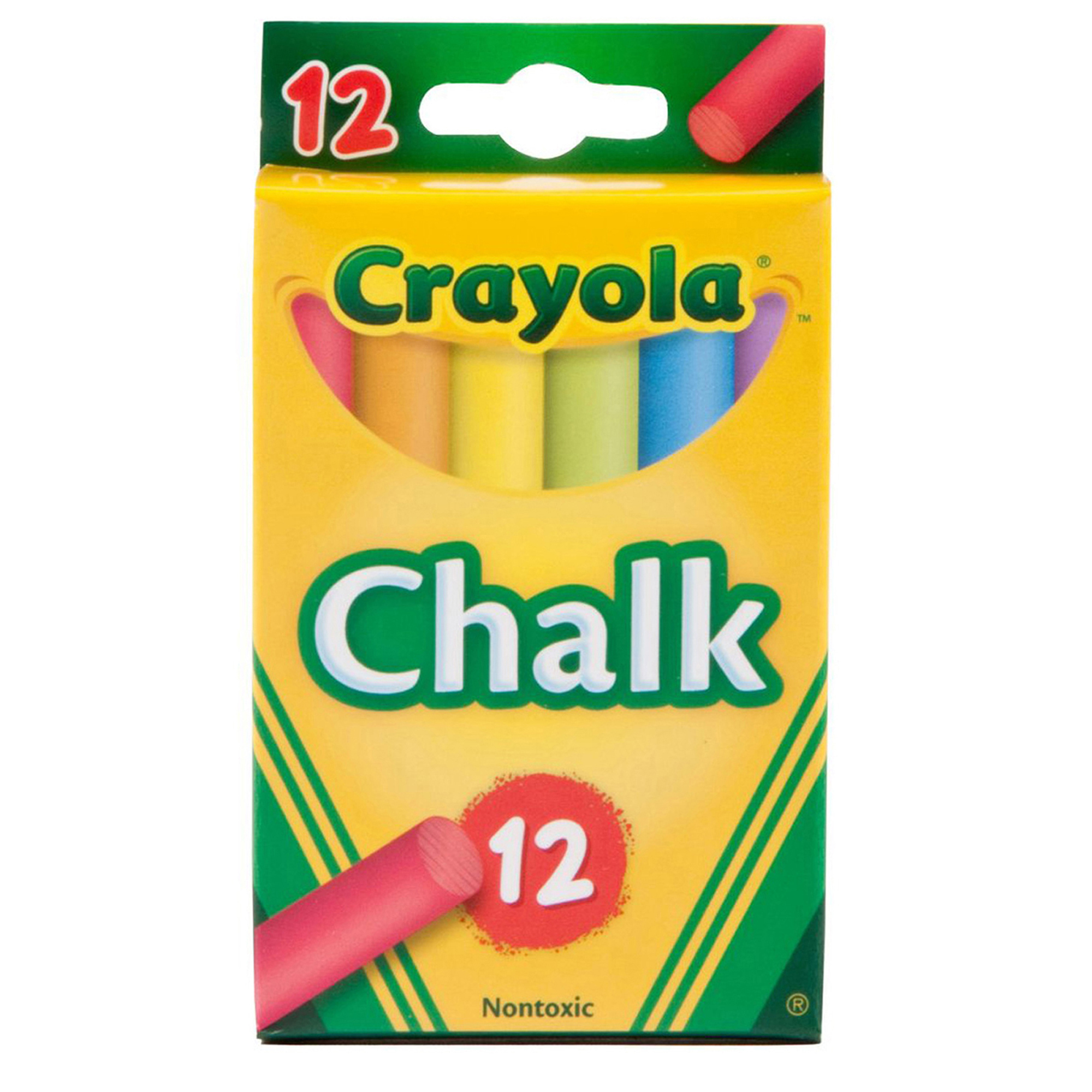 Crayola® Colored Chalk, 12 Per Pack, 36 Packs