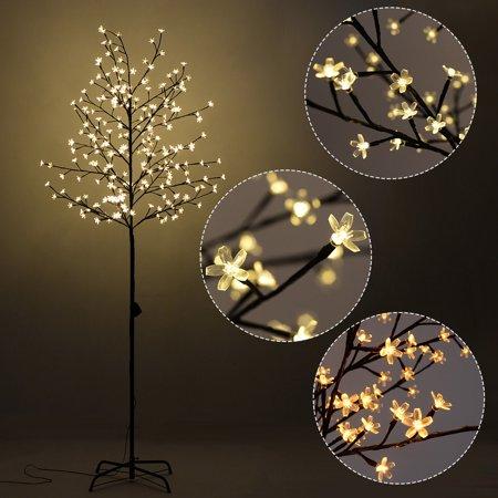 Costway Christmas Xmas Cherry Blossom Led Tree Light Floor
