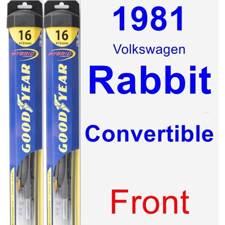 1981 Volkswagen Rabbit Convertible (1981 Volkswagen Rabbit Convertible Wiper Blade Set/Kit (Front) (2 Blades) - Hybrid )