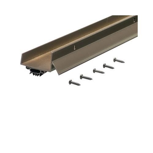 "M-D Products 69554 36"" Bronze Anodized U-Shaped Door Bottom with Drip Cap"