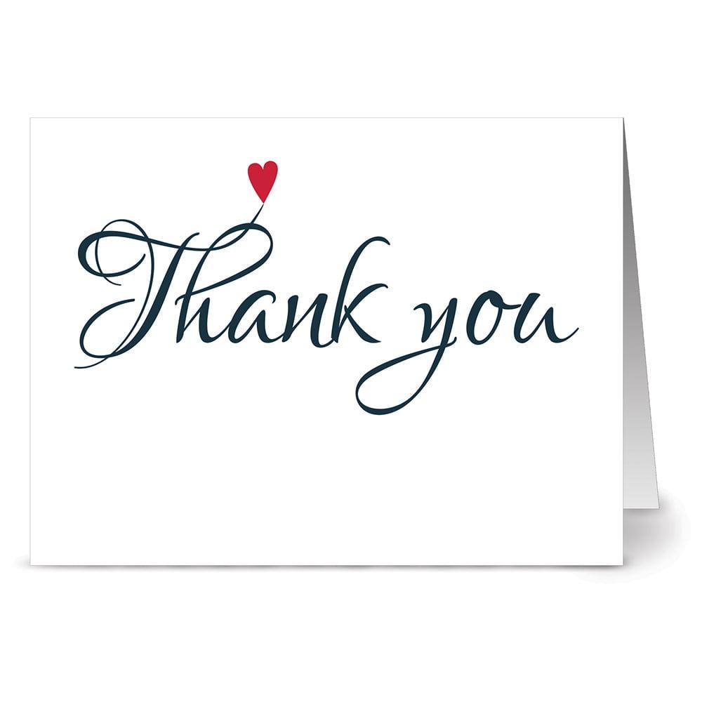 thank you card envelope