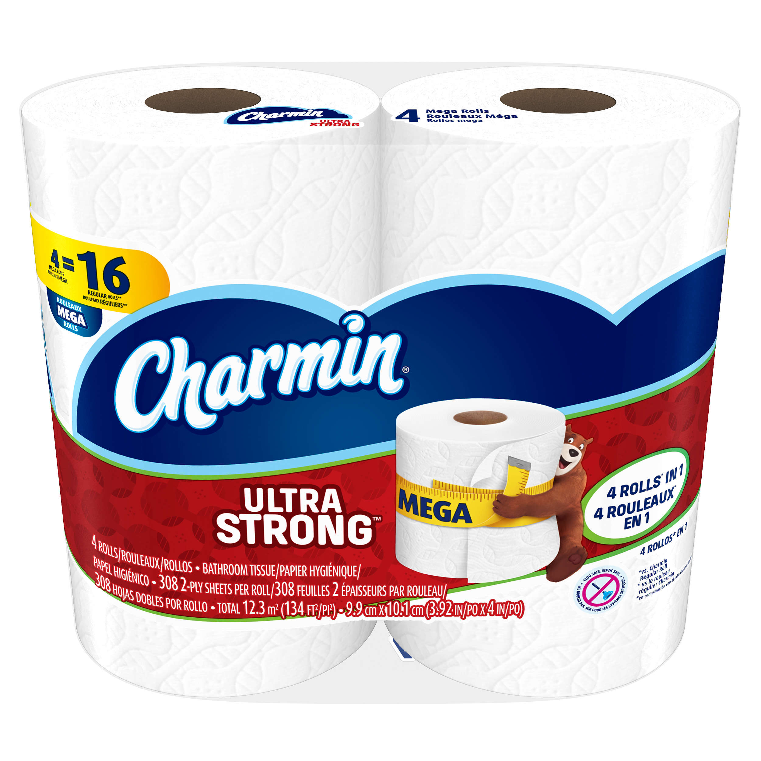 Charmin Toilet Paper, Ultra Strong, 4 Mega Rolls by Procter & Gamble
