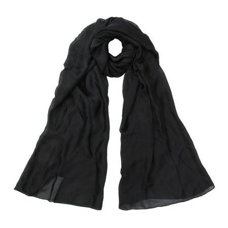 Premium Large Silky Plain Satin Oblong Scarf Wrap
