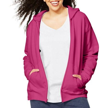 - Just My Size Women's Plus Size Fleece Zip Hood Jacket