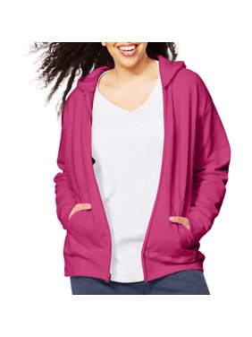 ef2216e80fa8 Product Image Women s Plus-Size Fleece Zip Hood Jacket