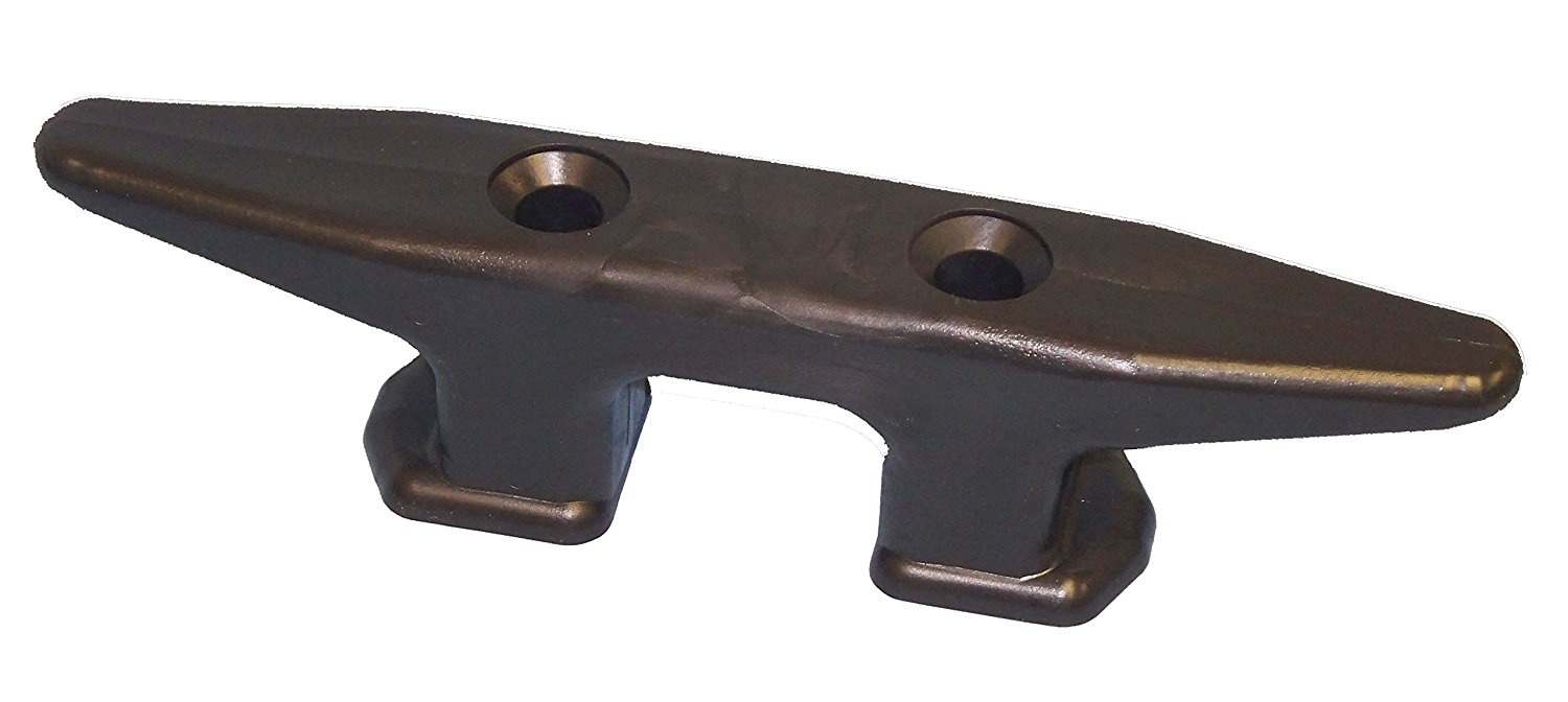 Open Base Dock Cleat Black, Ship from USA, Brand Dock Edge by