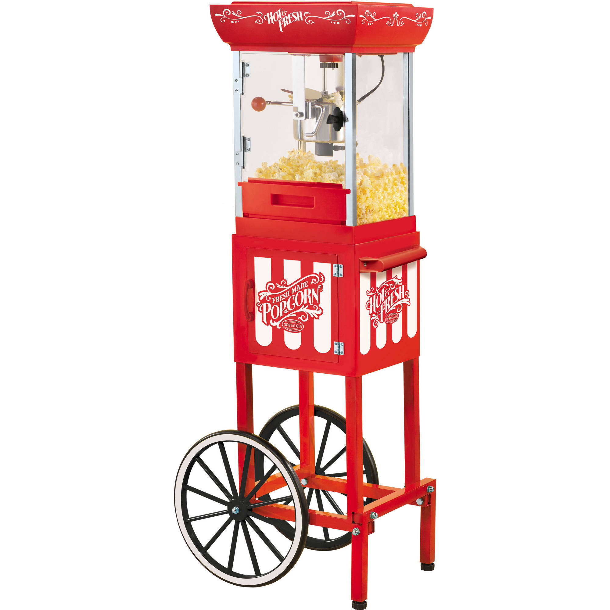 "Nostalgia CCP399 48"" Tall Vintage Collection 2.5 oz Kettle Popcorn Cart"