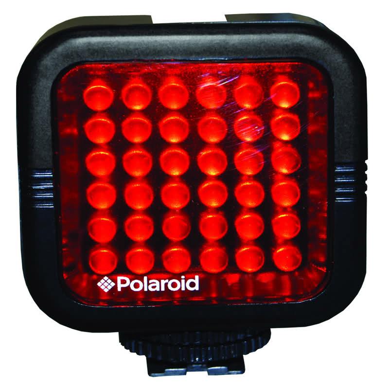Polaroid Rechargeable IR Night Light 36 LED Light Bar For Cameras Camcorders