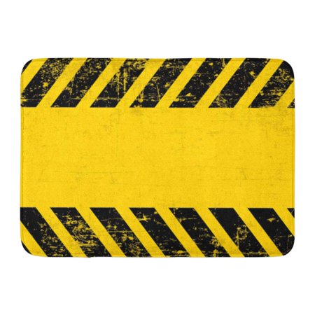 GODPOK Orange Industry Yellow Caution Grungy and Worn Hazard Stripes Black Warning Safety Rug Doormat Bath Mat 23.6x15.7 inch