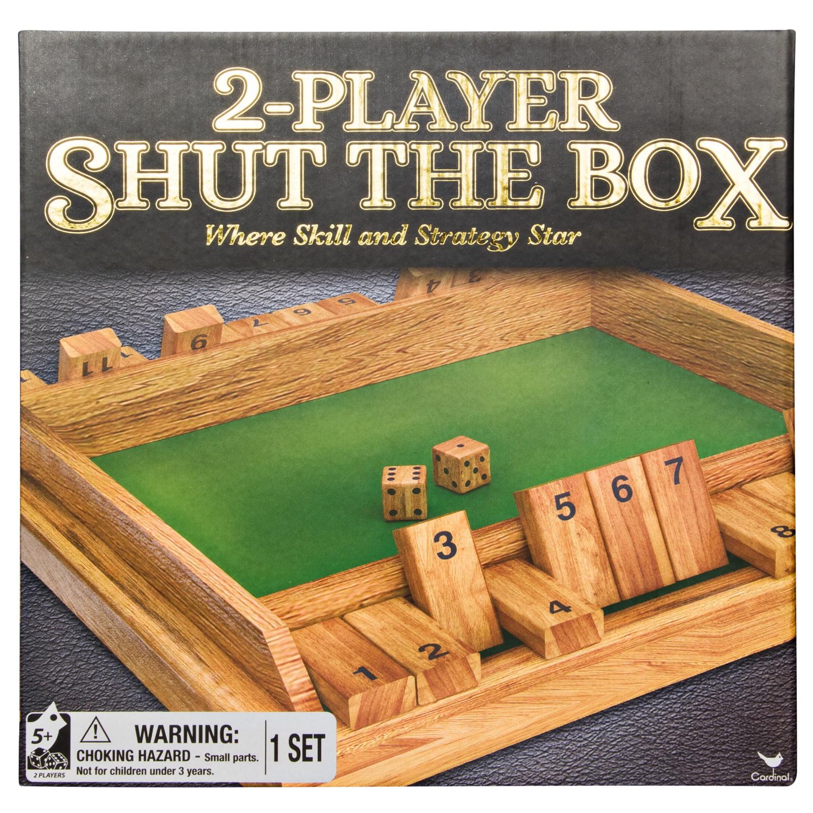 Dice Three Hands Wood Box Set of 4