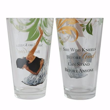 Drinking Glass Set-Praise (17 Oz) (Set Of 4)