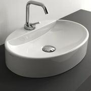 WS Bath Collections Cento Ceramic Ceramic Oval Vessel Bathroom Sink