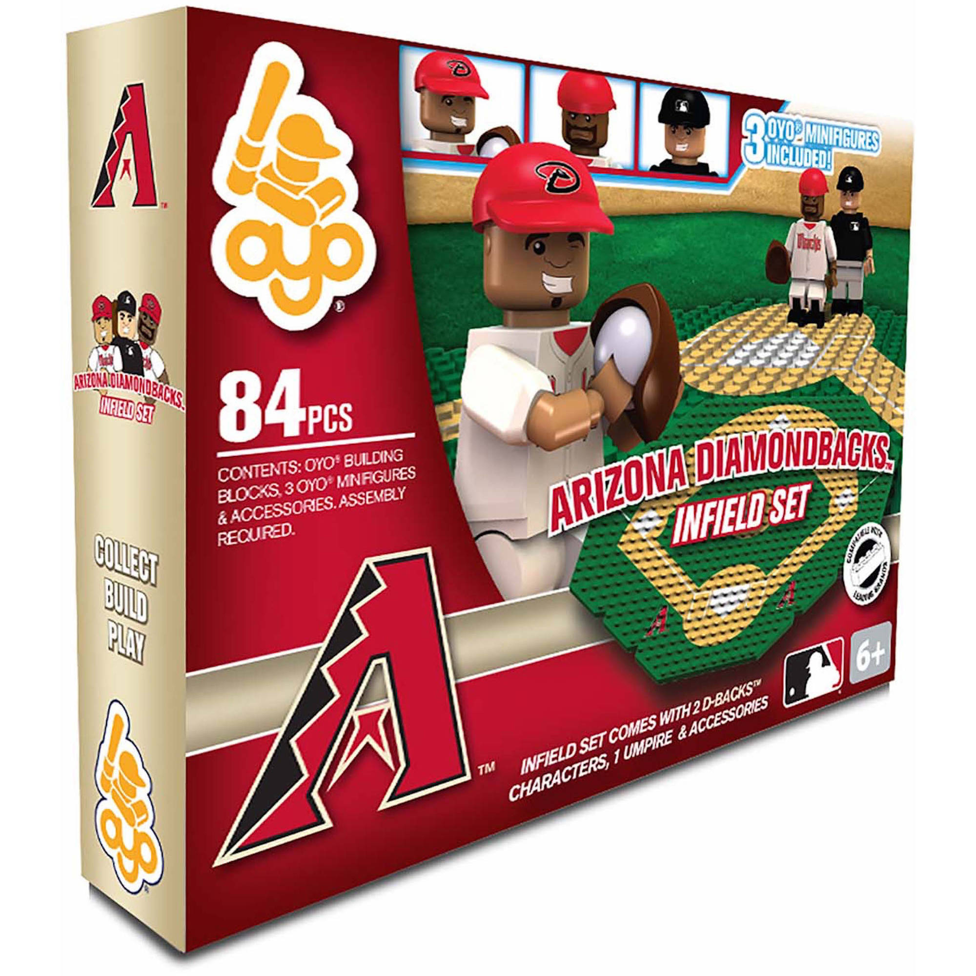 OYO Sports MLB 84-Piece Infield Set 2.0, Arizona Diamondback