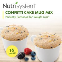 Nutrisystem Confetti Cake Mug Mix (16 ct Case) - Delicious, Diet Friendly Snacks Perfectly Portioned for Weight Loss